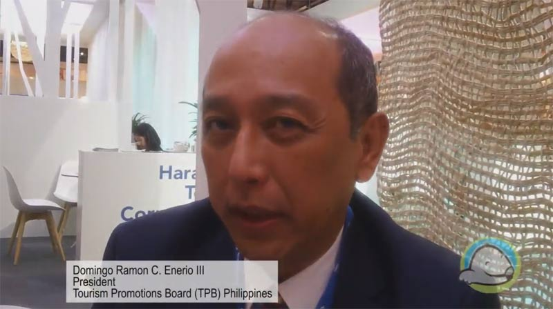 Interview with Domingo Enerio from the Tourism Promotions Board (TPB) Philippines at WTM 2015