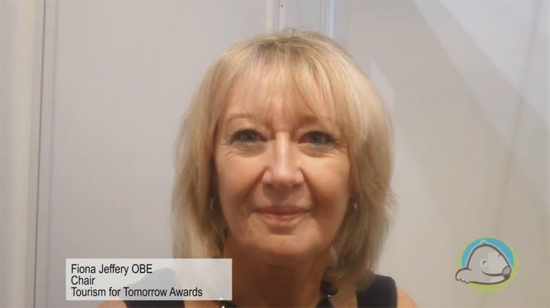 Interview with Fiona Jeffrey OBE from the Tourism for Tomorrow Awards at WTM 2015