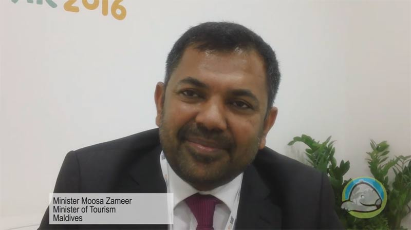 Interview with Moosa Zameer from the Ministry of Tourism - Maldives at WTM 2015